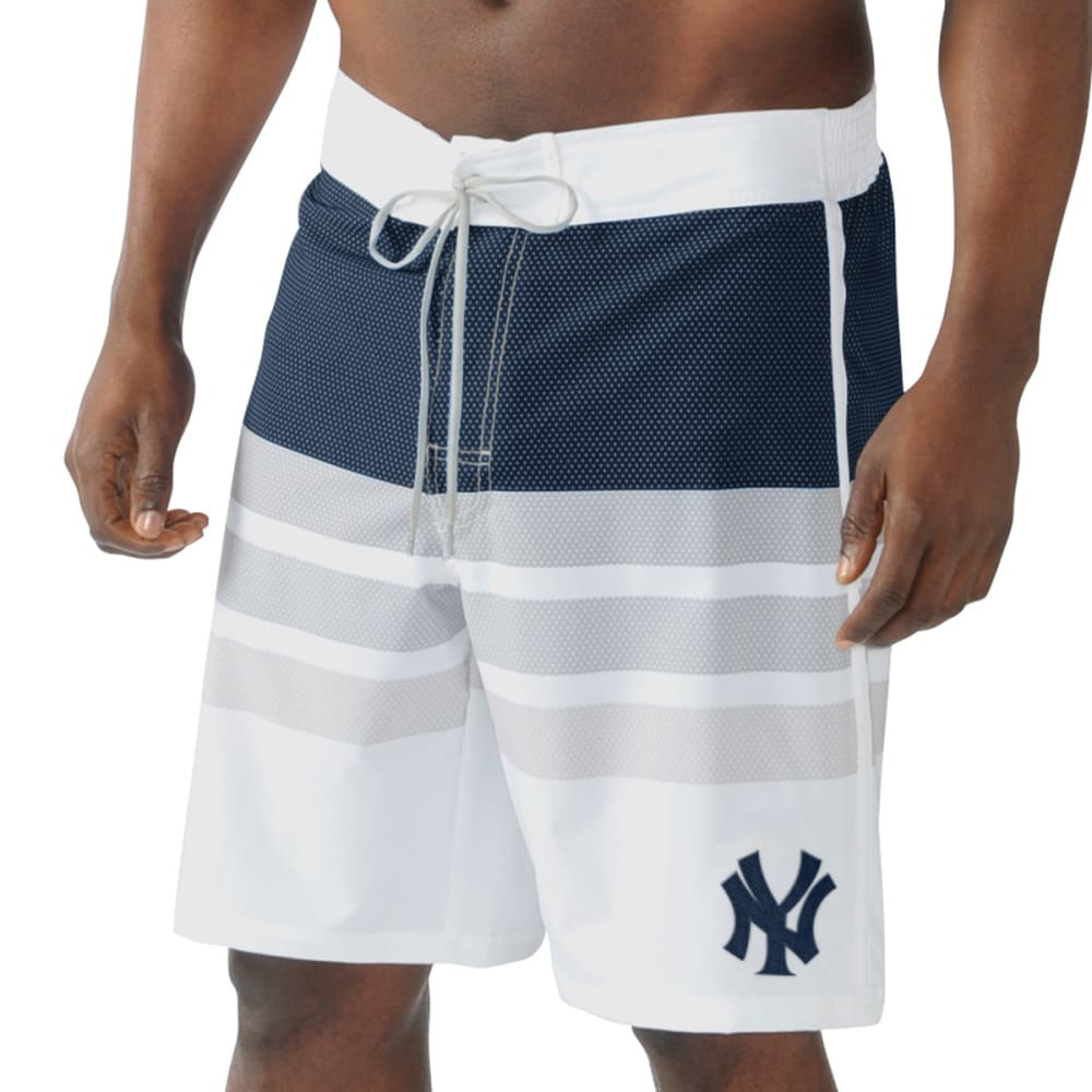 NEW YORK YANKEES Men's Center Field Swim Trunks - NAVY