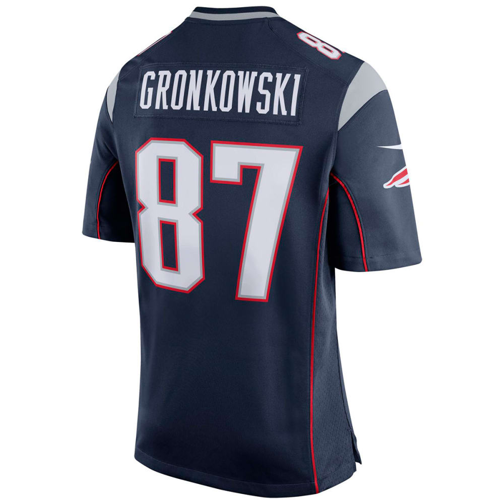 NIKE Men's New England Patriots Rob Gronkowski Game Short-Sleeve Jersey - NAVY