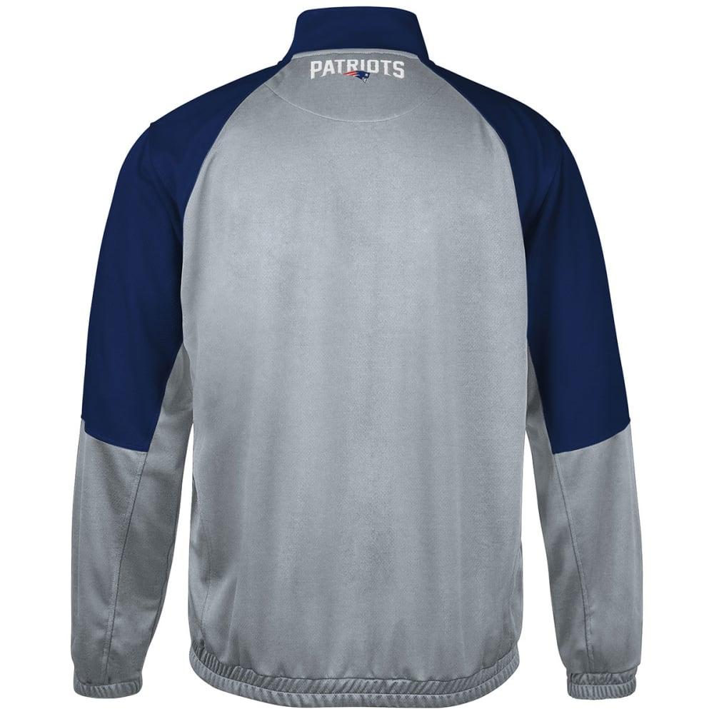 NEW ENGLAND PATRIOTS Men's 2-Sided Track Jacket - WHITE/CHINCHILLA