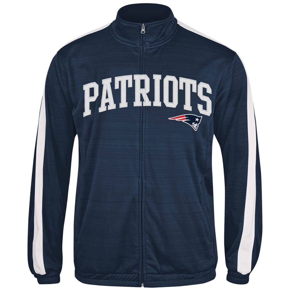 NEW ENGLAND PATRIOTS Men's Takeaway Full Zip Jacket - WHITE/CHINCHILLA