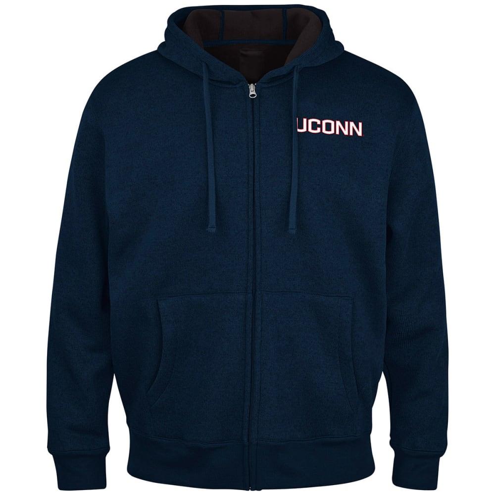 THE UCONN HUSKIES Men's Primary Receiver Full Zip Jacket - NAVY