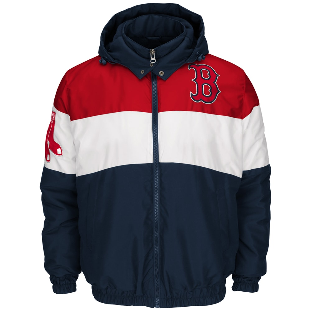 BOSTON RED SOX Men's Gridiron Three Hit Full-Zip Jacket - NAVY
