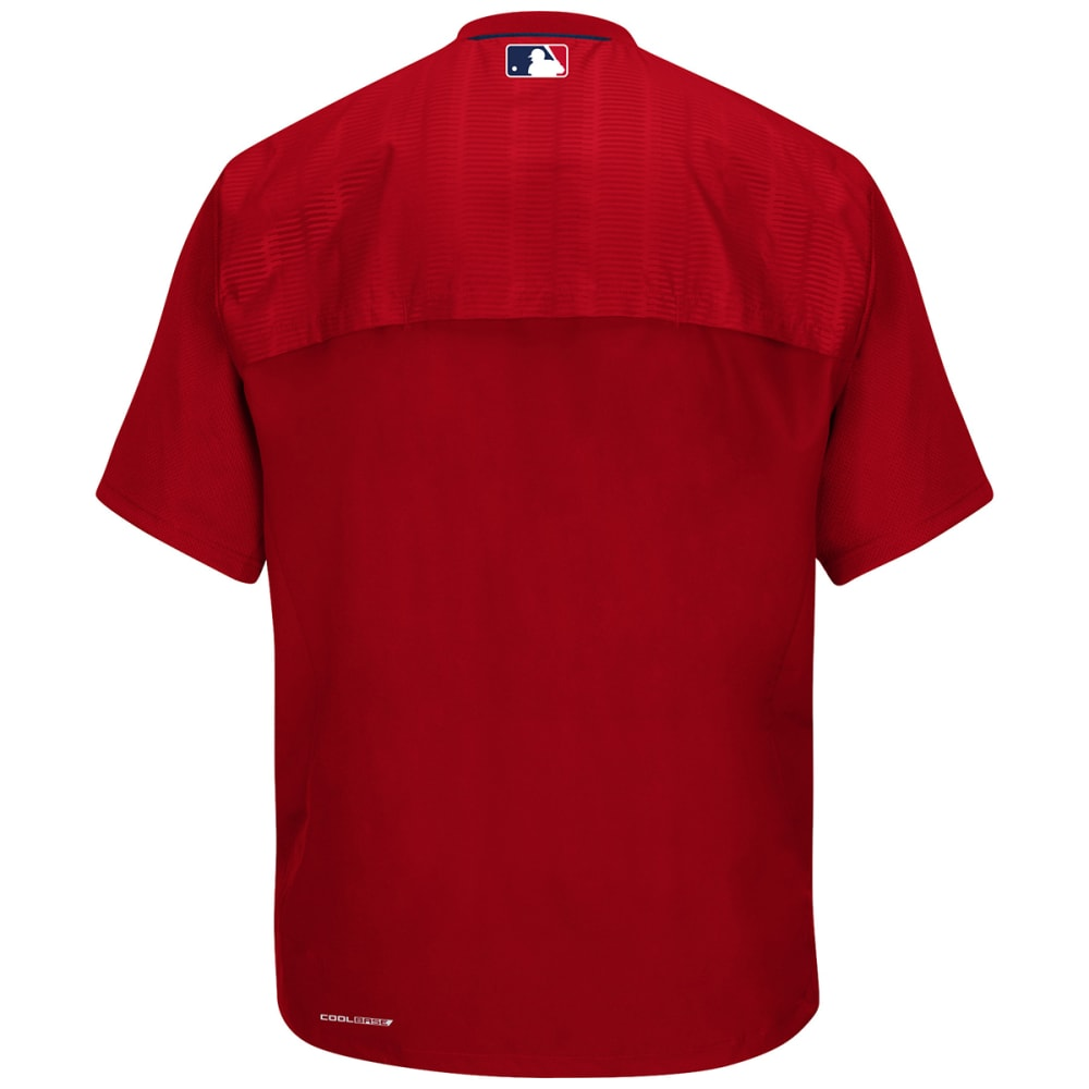 BOSTON RED SOX Men's Cool Base On-Field Short Sleeve Training Jacket - RED