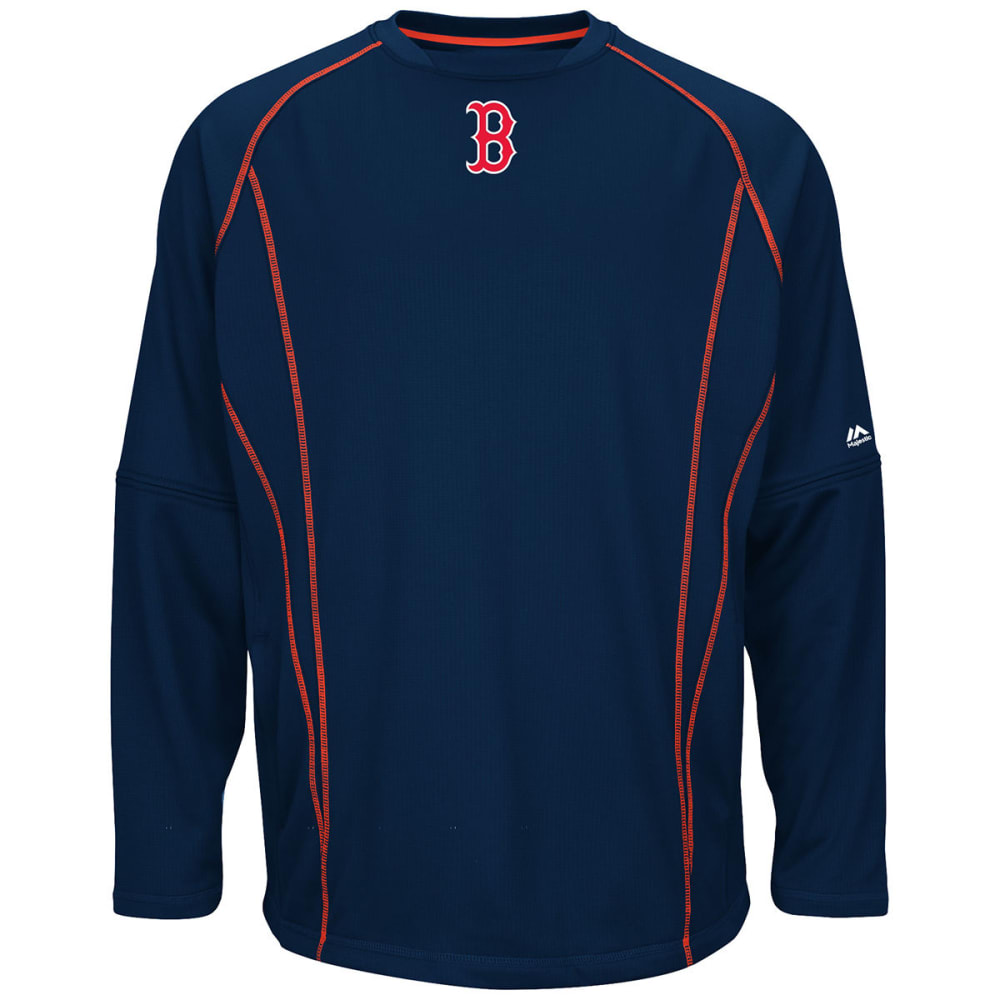 BOSTON RED SOX Men's On-Field Practice Pullover - NAVY