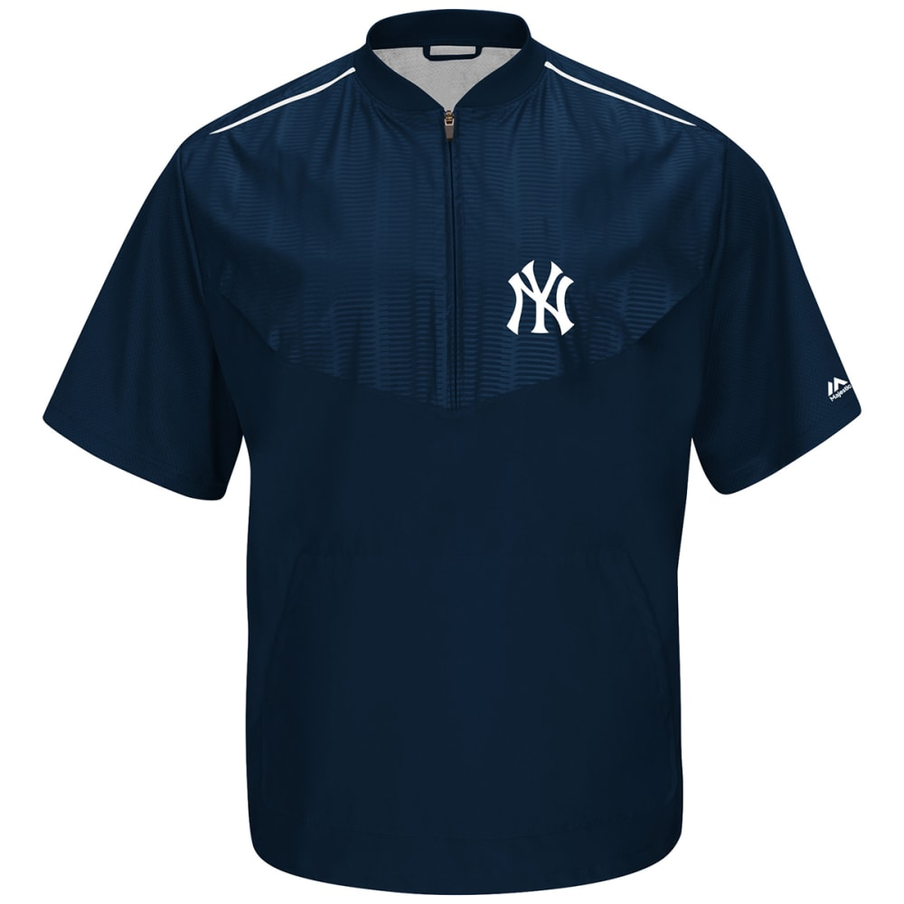 NEW YORK YANKEES Men's Cool Base On-Field Short Sleeve Training Jacket - NAVY