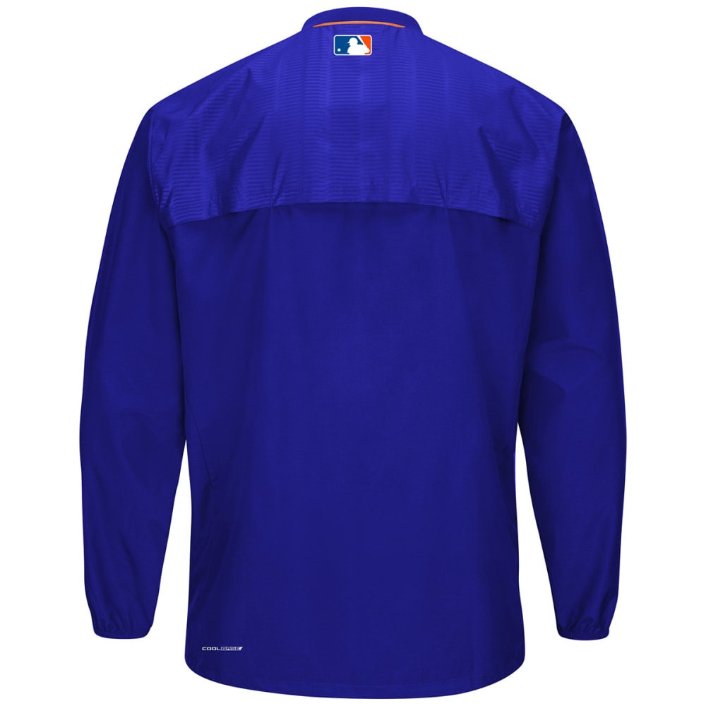 NEW YORK METS Men's Cool Base On-Field Long Sleeve Training Jacket - NAVY