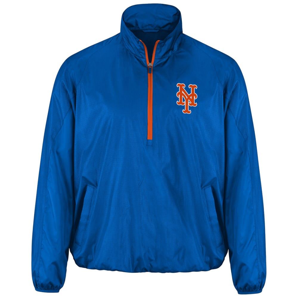 NEW YORK METS Men's Double Play Half-Zip Jacket - ROYAL BLUE-METS