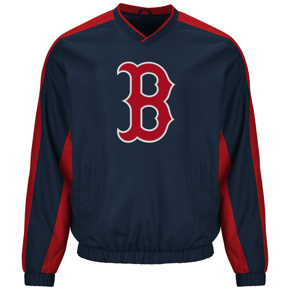 BOSTON RED SOX Men's Navy Southpaw Pullover Jacket - NAVY