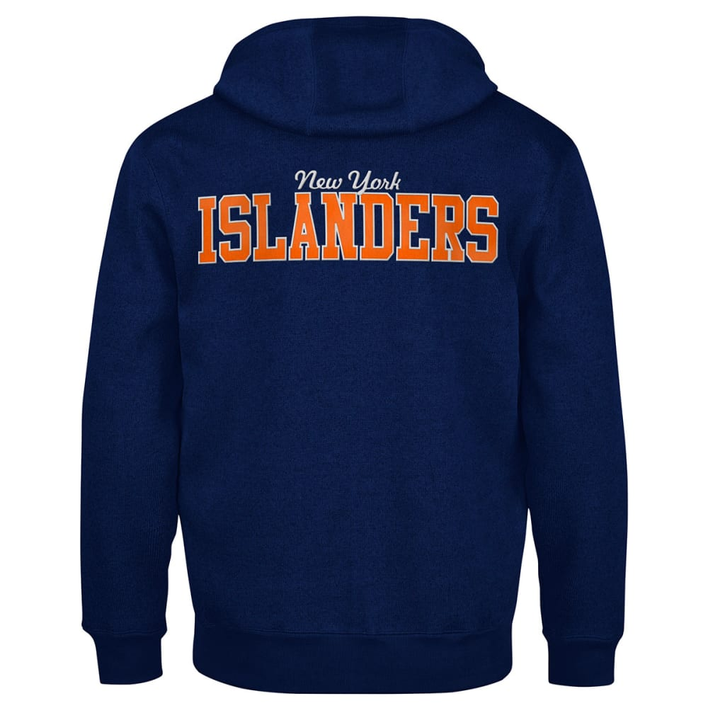 NEW YORK ISLANDERS Men's Primary Receiver Hoodie - BIRCH/CORAL