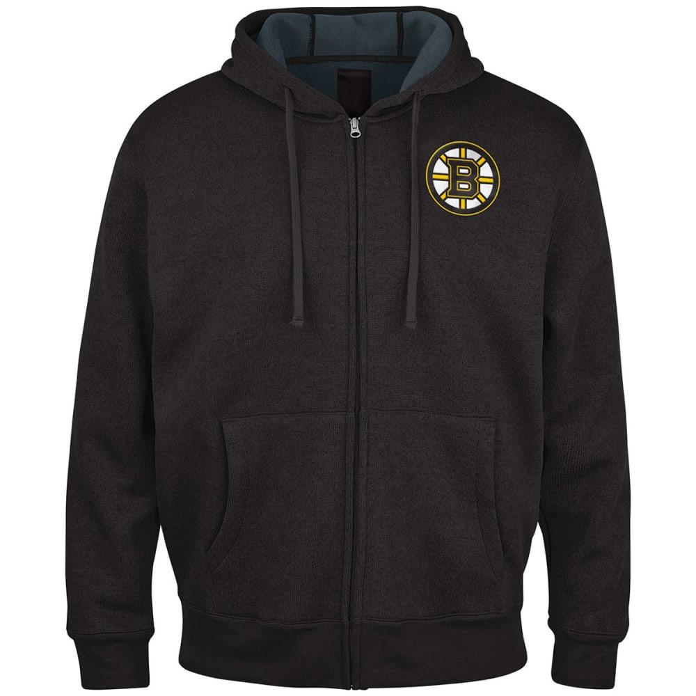THE BOSTON BRUINS Men's Primary Receiver Full Zip Jacket - BLACK