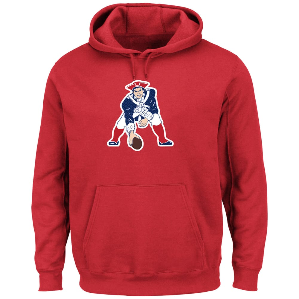 NEW ENGLAND PATRIOTS Men's Tek Patch Fleece Hoodie - RED