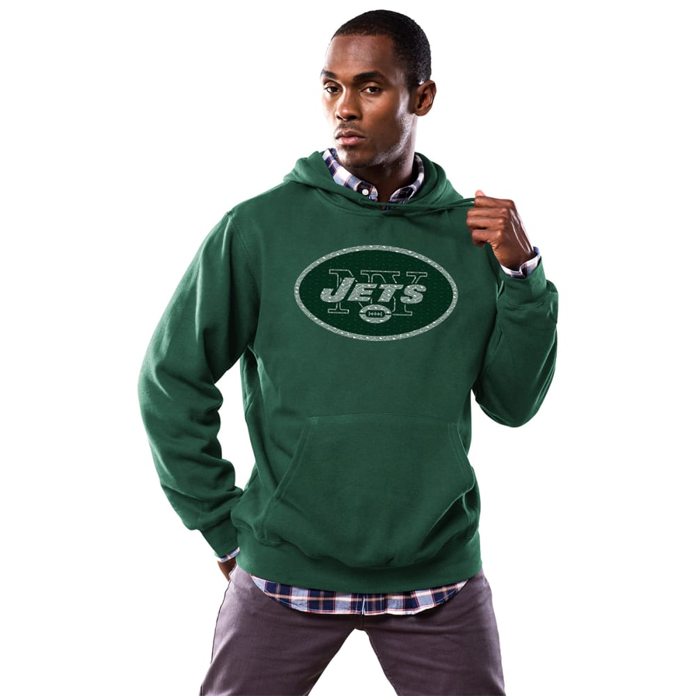 NEW YORK JETS Men's Critical Victory Fleece Hoodie - GREEN HEATHER