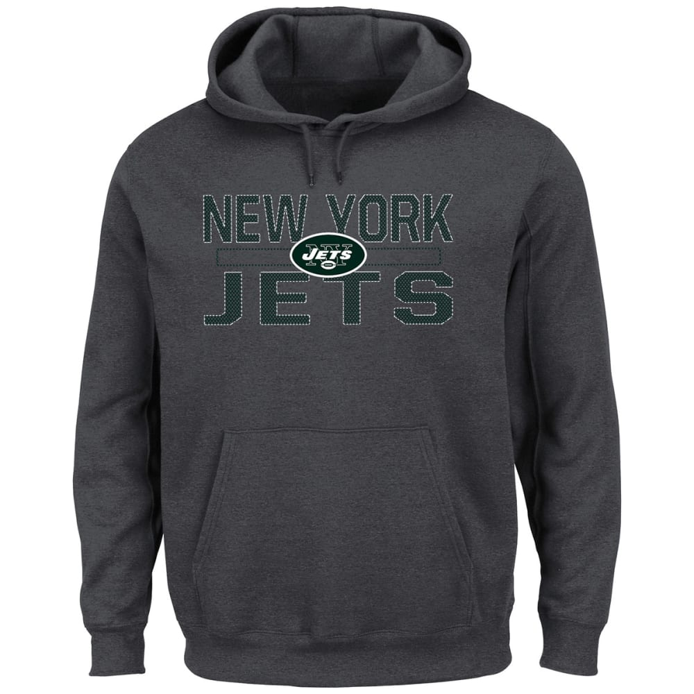 NEW YORK JETS Men's Kick Return Fleece Hoodie - CHARCOAL