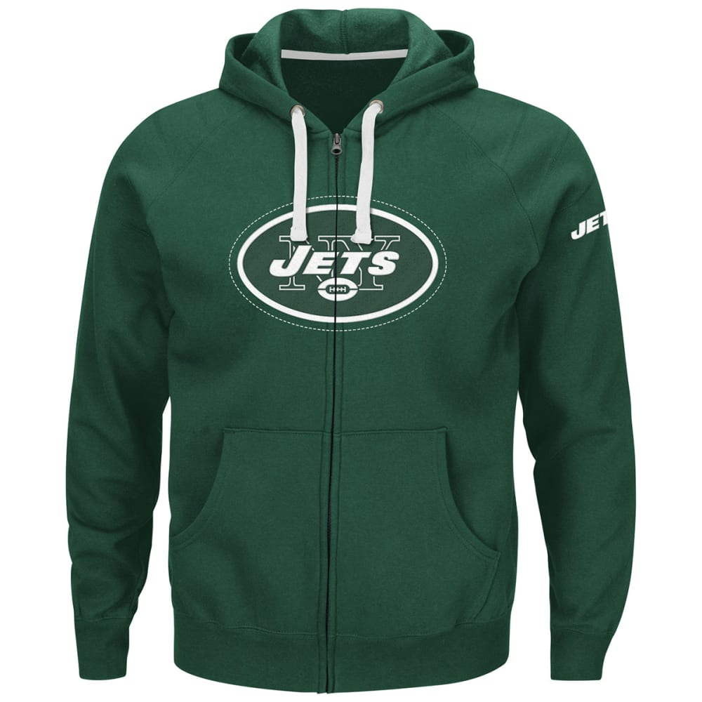 NEW YORK JETS Men's Anchor Point Full-Zip Fleece Hoodie - GREEN
