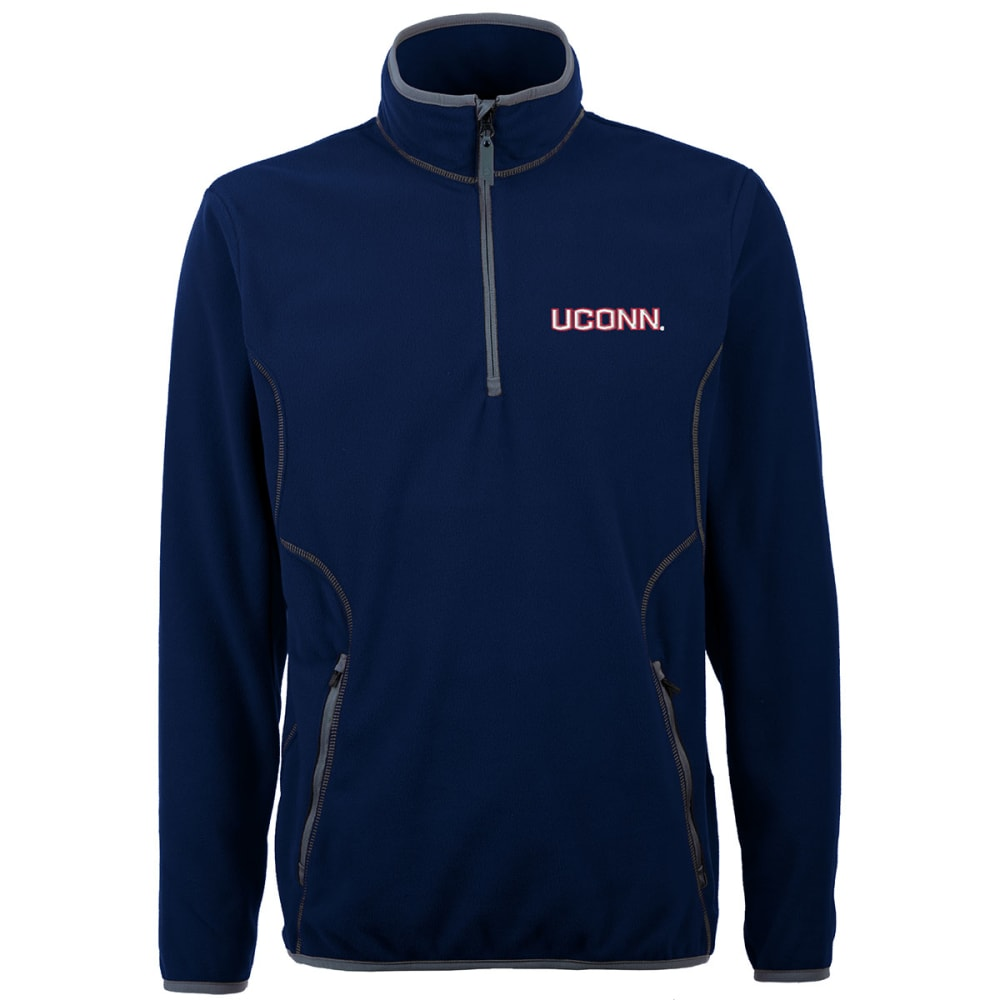 UCONN HUSKIES Men's Ice Long Sleeve Pullover ¼ Zip Jacket - NAVY