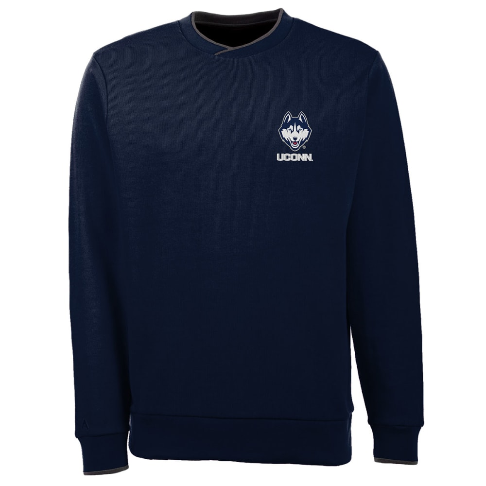 UCONN HUSKIES Men's Executive Crew Neck Sweater - NAVY
