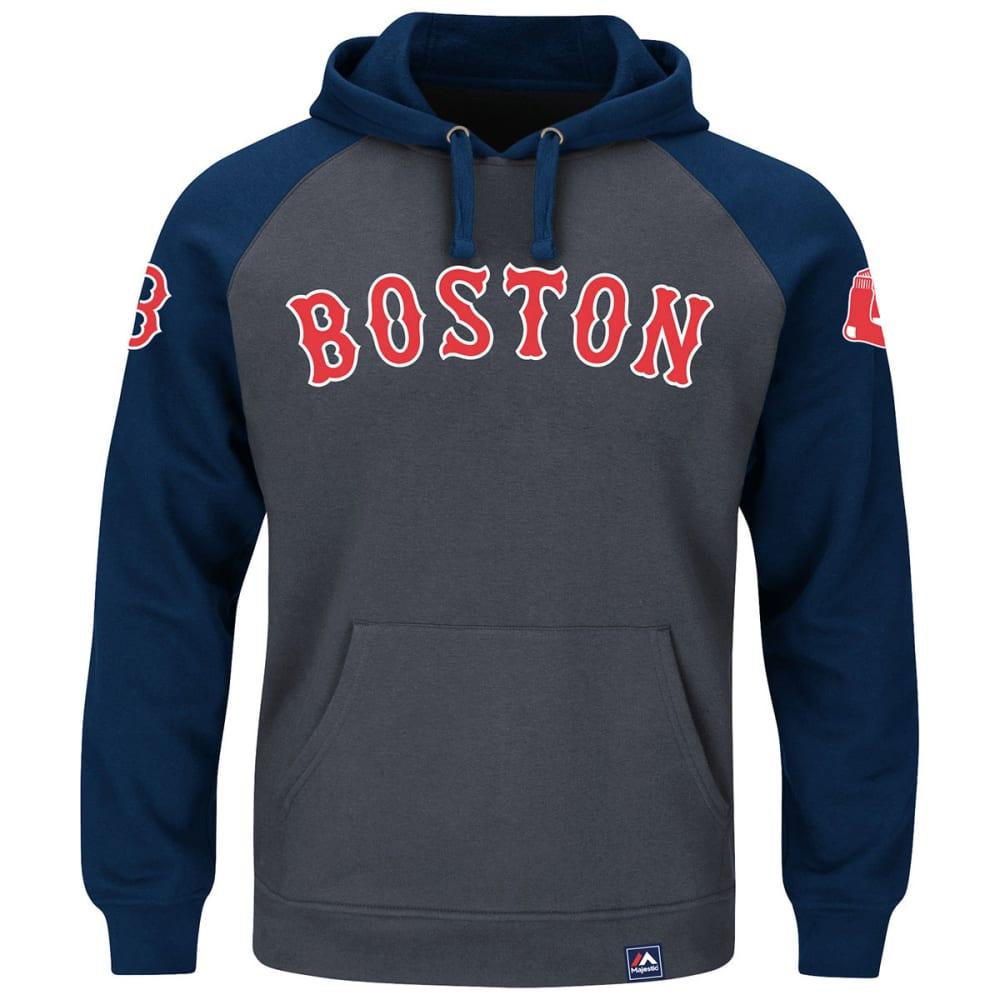 BOSTON RED SOX Men's Cunning Play 2-Hit Hoodie - GREY/NAVY