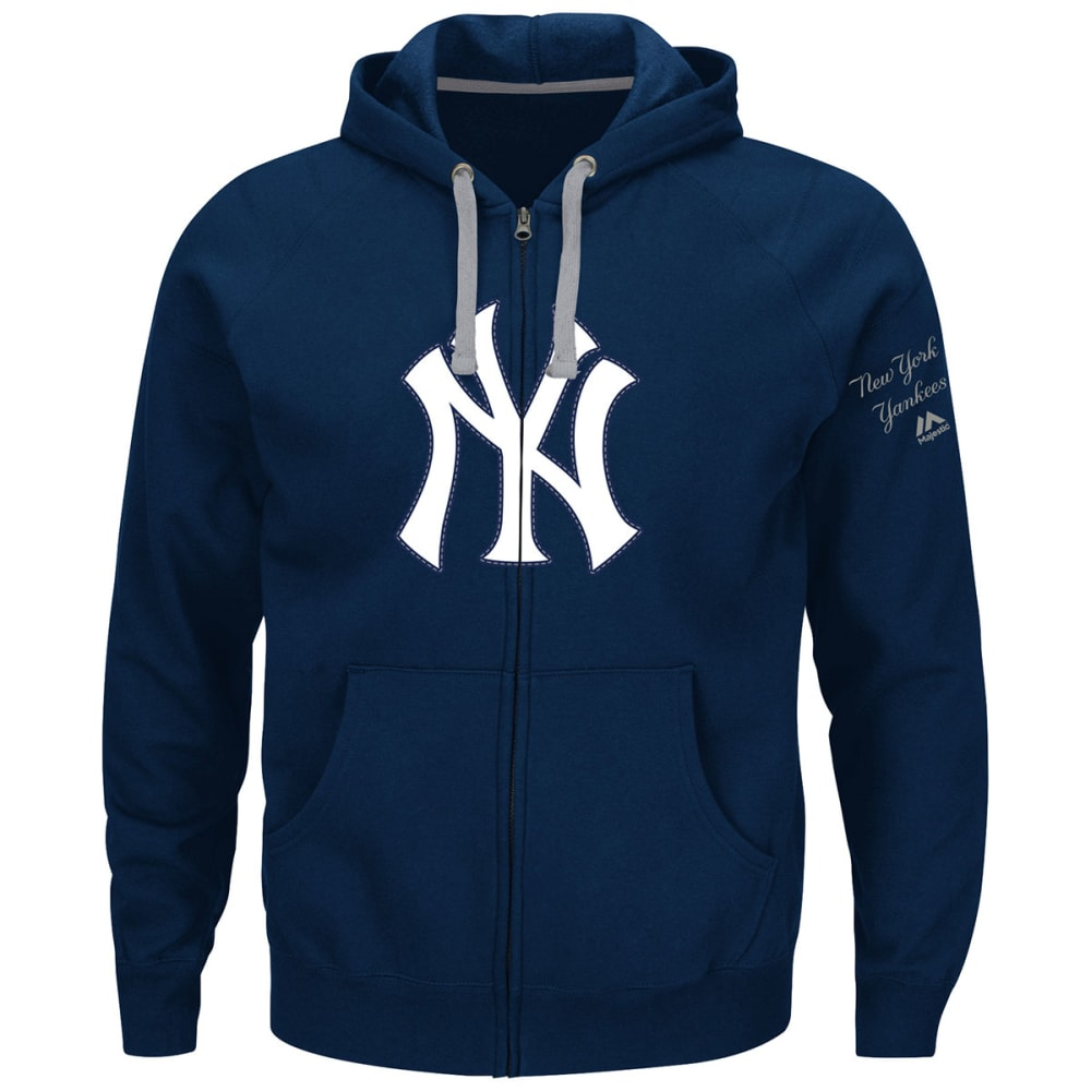 NEW YORK YANKEES Men's Anchor Point Full-Zip Hoodie - NAVY