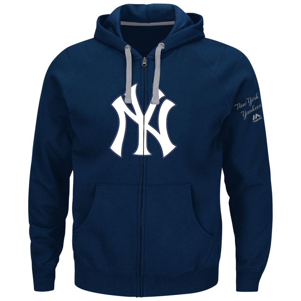 NEW YORK YANKEES Men's Anchor Point Full-Zip Hoodie - NAVY