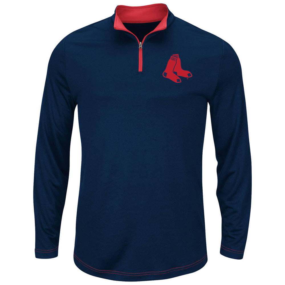 BOSTON RED SOX Men's Ready and Willing 1/4 Zip-Up - NAVY