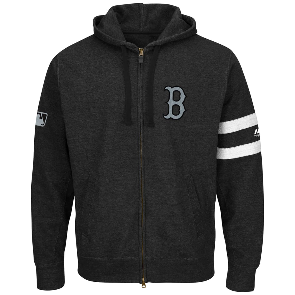 BOSTON RED SOX Men's Authentic Collection Clubhouse Full-Zip Hoodie - BLACK