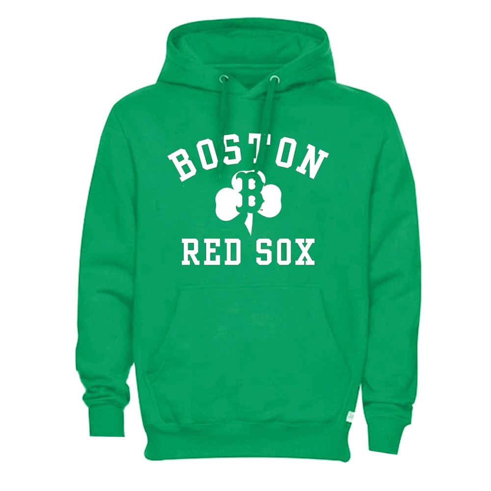 BOSTON RED SOX Men's St. Patrick's Day Fleece Hoodie - GREEN