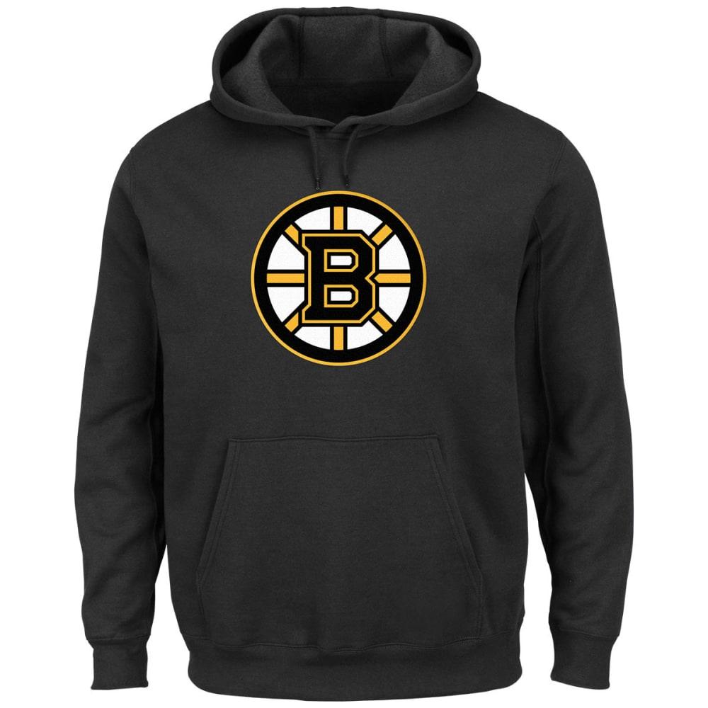 MAJESTIC Men's Felt Tek™ Boston Bruins Alt Hooded Fleece - BLACK
