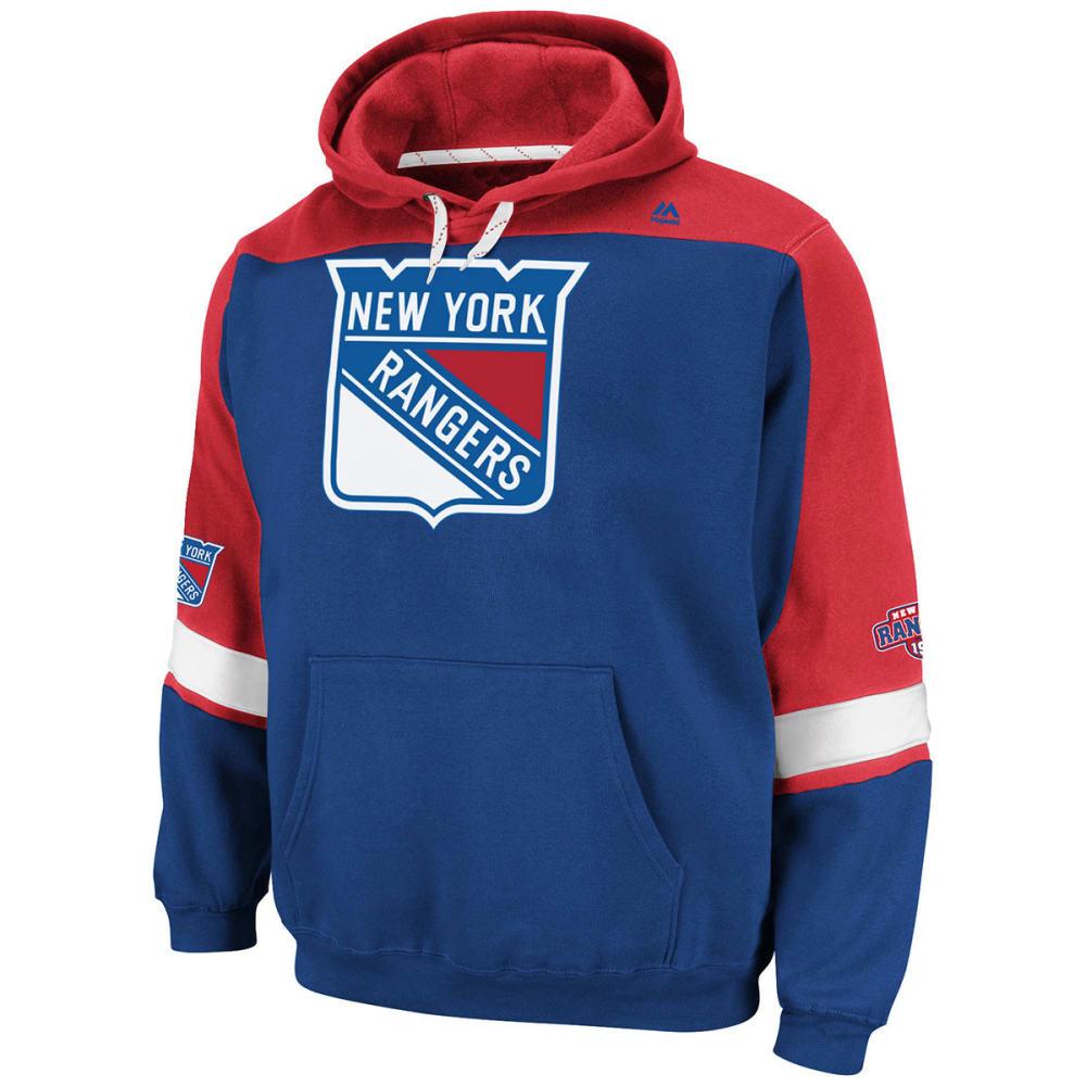 NEW YORK RANGERS Men's Ice Classic Hooded Fleece - ROYAL BLUE