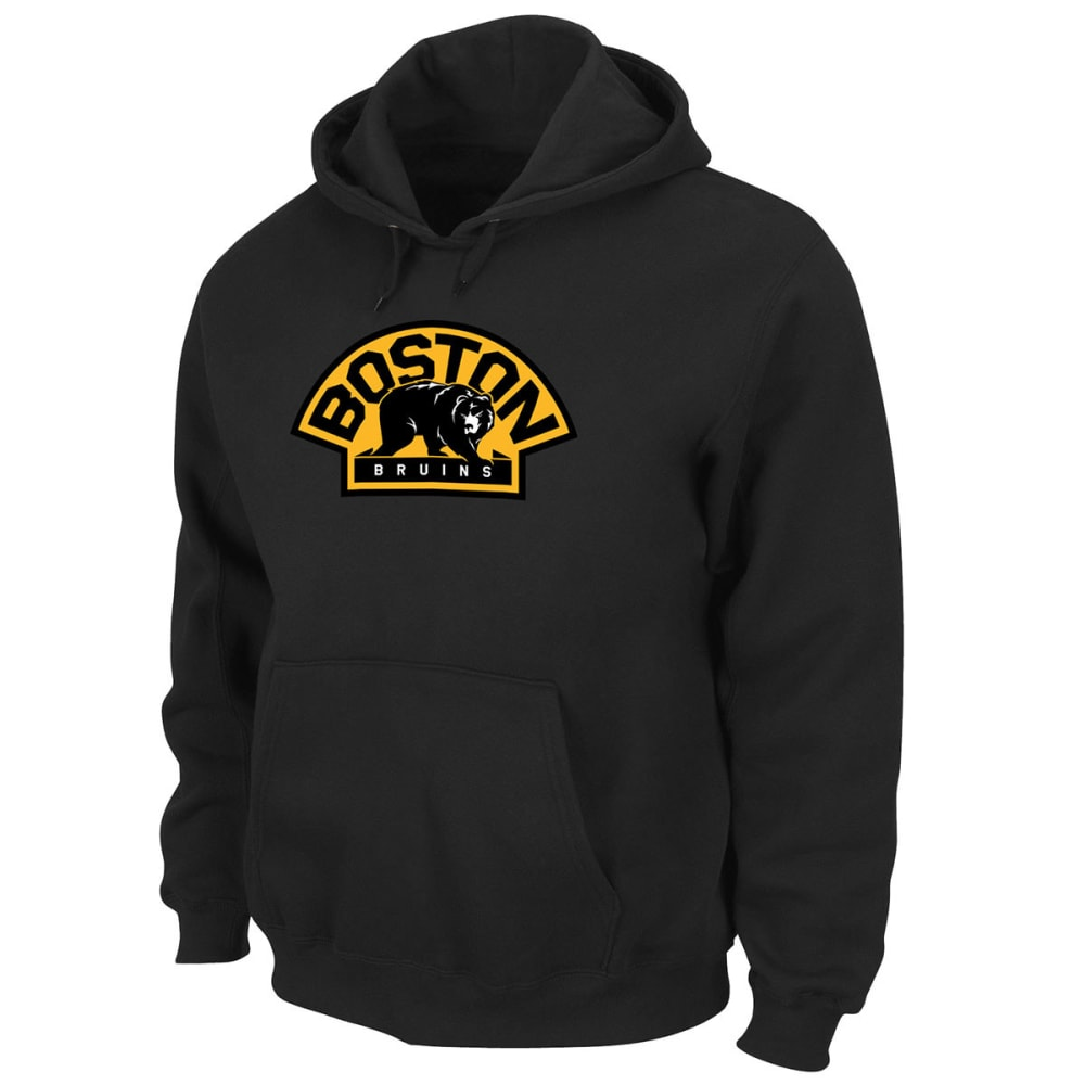 BOSTON BRUINS Men's Felt Tek™ Bear Patch Hooded Fleece - BLACK