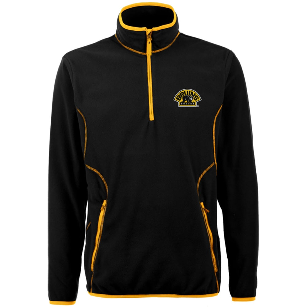 ANTIGUA Men's Bruins Ice Pullover 1/4 Zip Bear Fleece - NINE IRON
