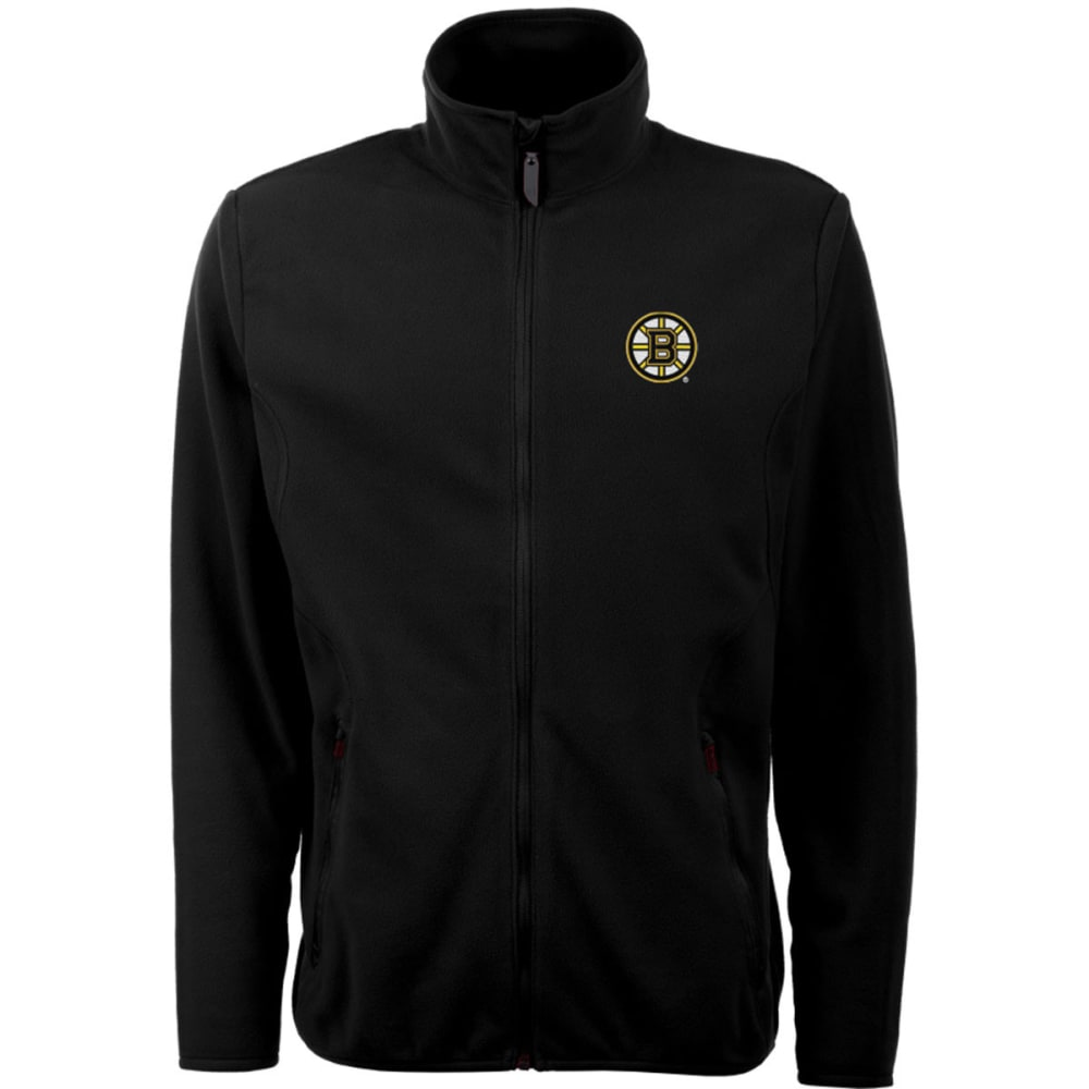 ANTIGUA Men's Bruin's Ice Full Zip Big Logo Fleece - BLACK