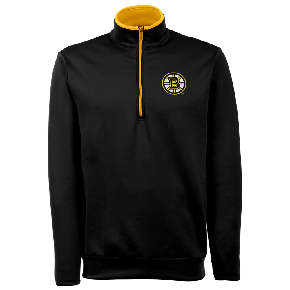 THE BOSTON BRUINS Men's Leader Pullover Jacket - GREY HOUNDSTOOTH