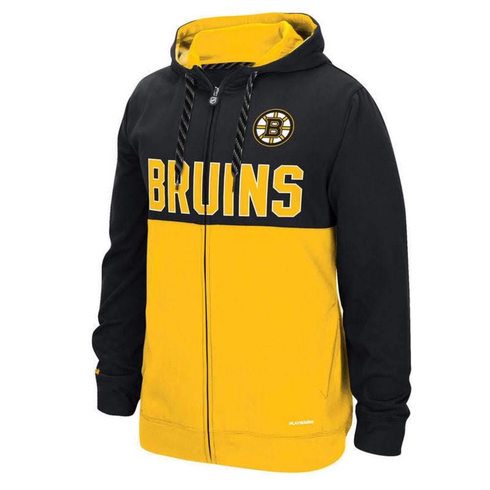BOSTON BRUINS Men's Full Zip Hoodie - BLACK
