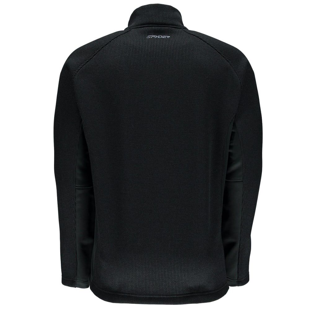 SPYDER Men's Outbound ¼ Zip Sweater Fleece Jacket - BLACK