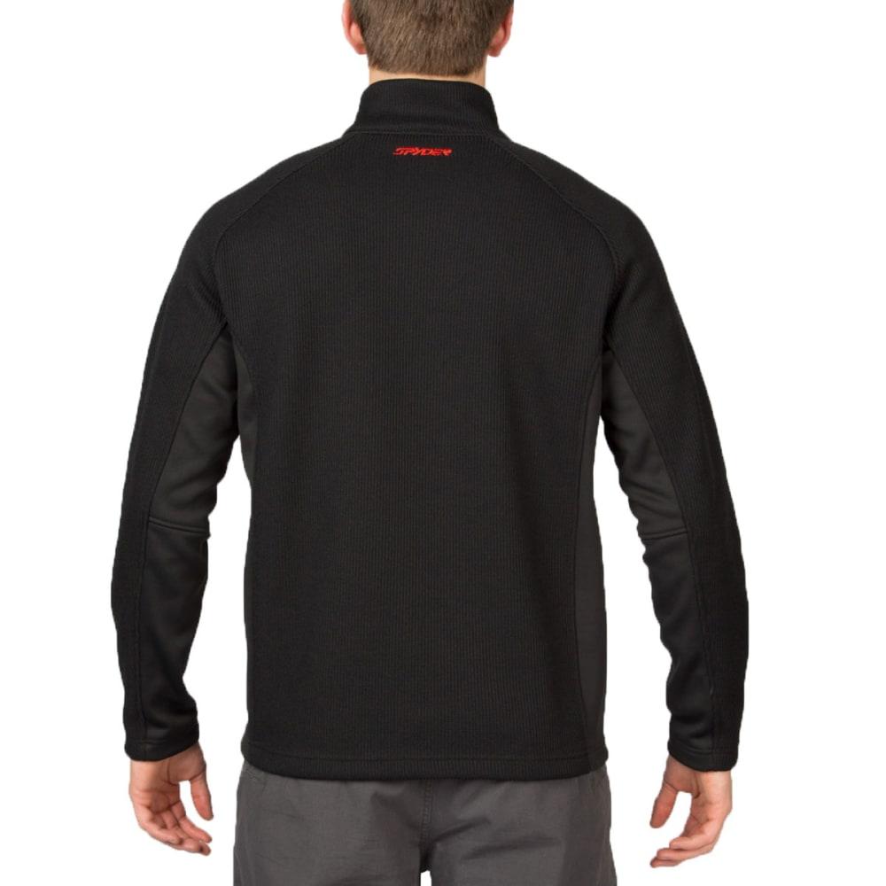 SPYDER Men's Outbound ¼ Zip Sweater Fleece Jacket - BLACK/RED