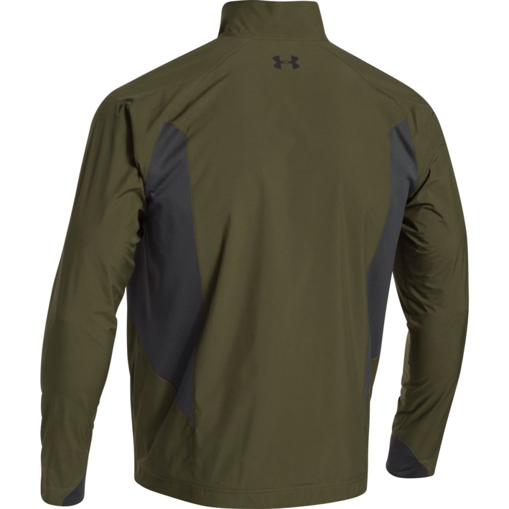 UNDER ARMOUR Men's Storm ColdGear® Infrared WINDSTOPPER® Shadow Jacket - GREEN HD BLK