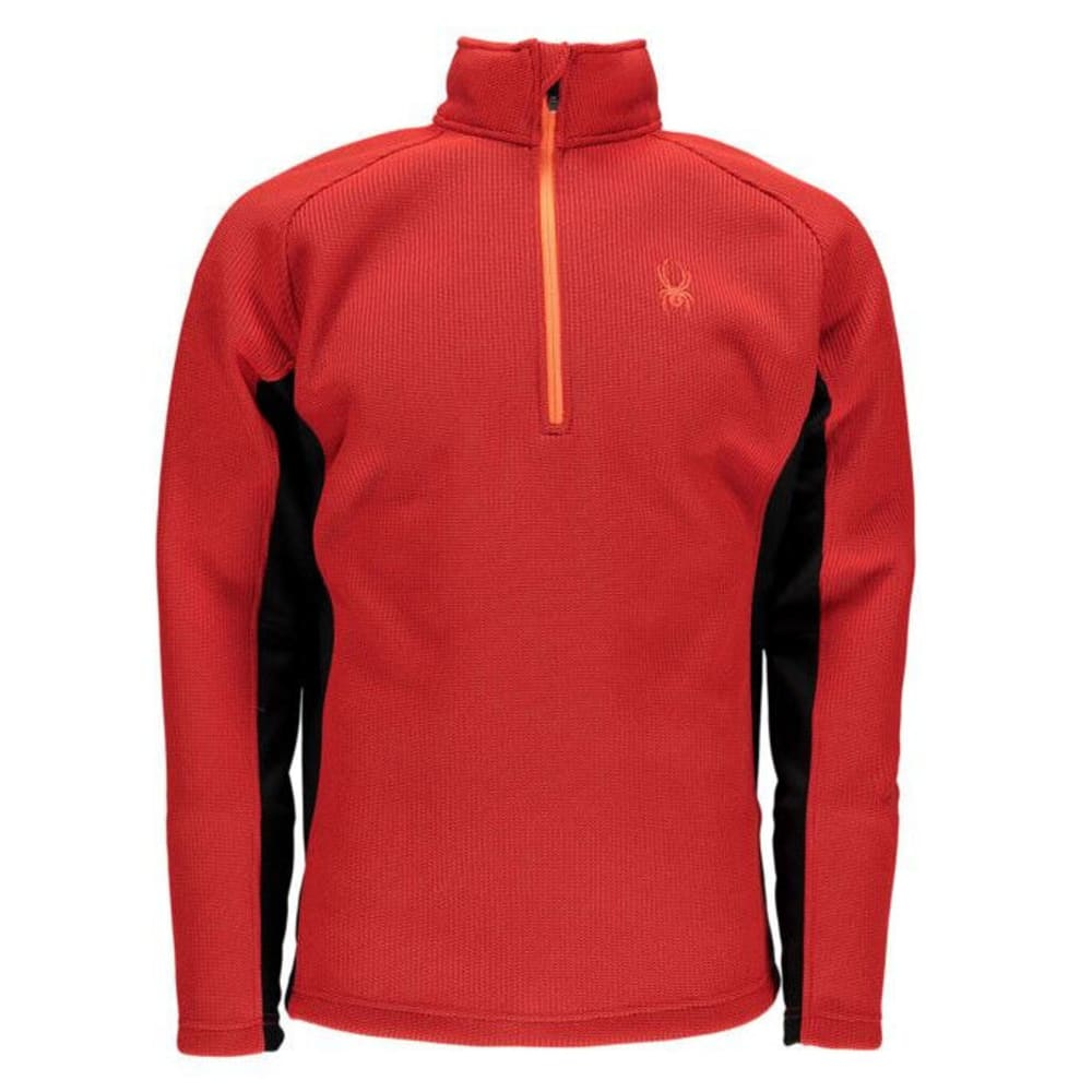SPYDER Men's Outbound ¼ Zip Sweater - BRIGHT CRIMSON