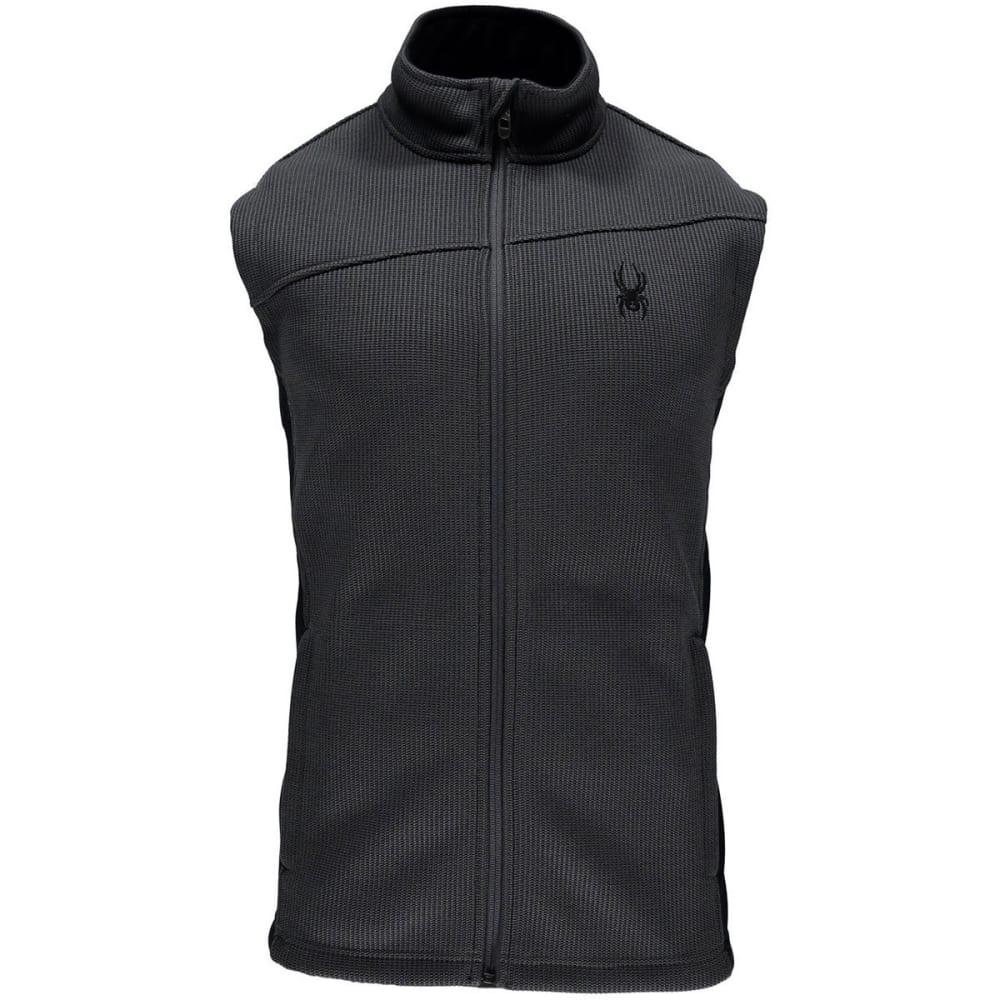 SPYDER Men's Constant Mid Weight Core Sweater Vest - 069-POLAR/BLK