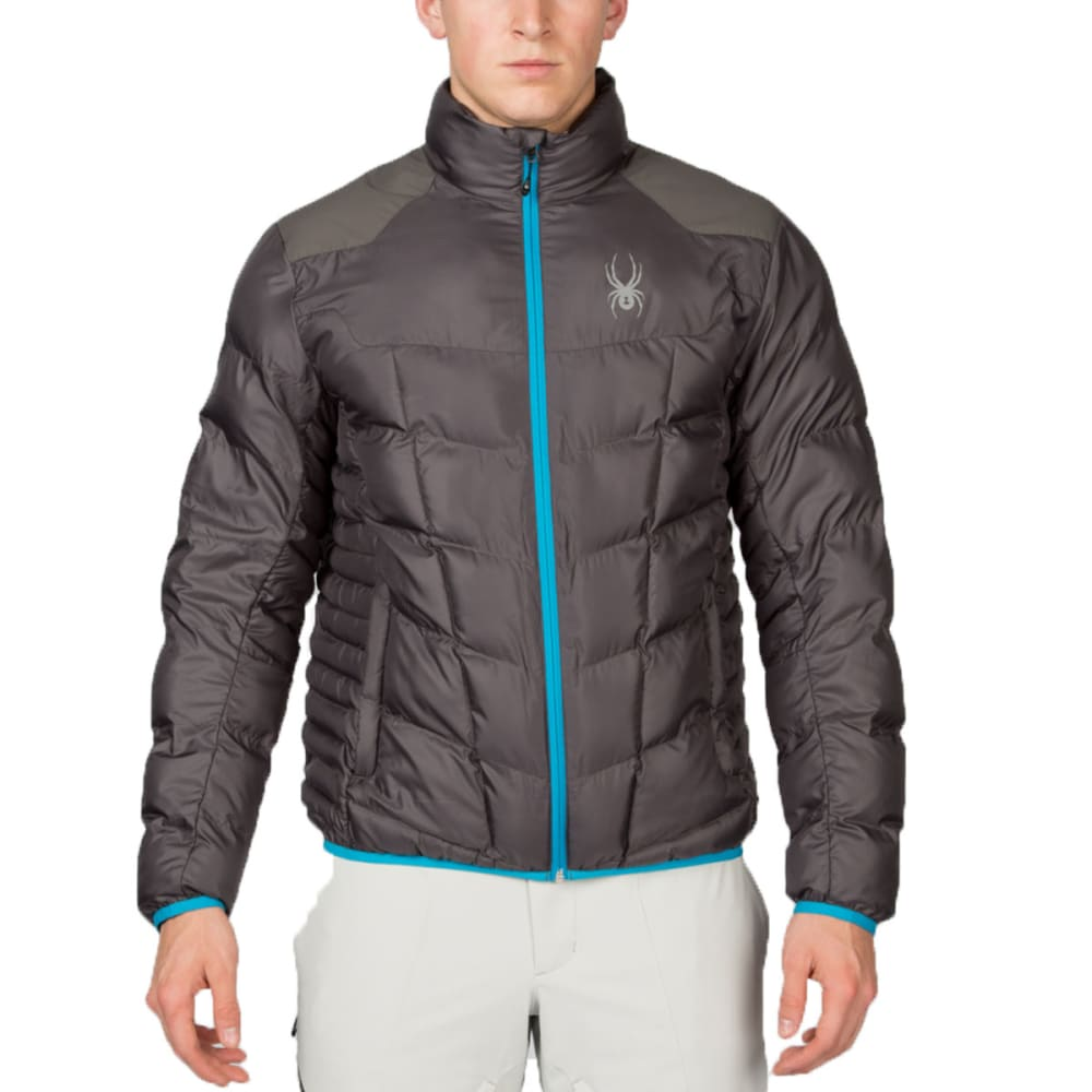 SPYDER Men's Geared Synthetic Down Jacket - GREY