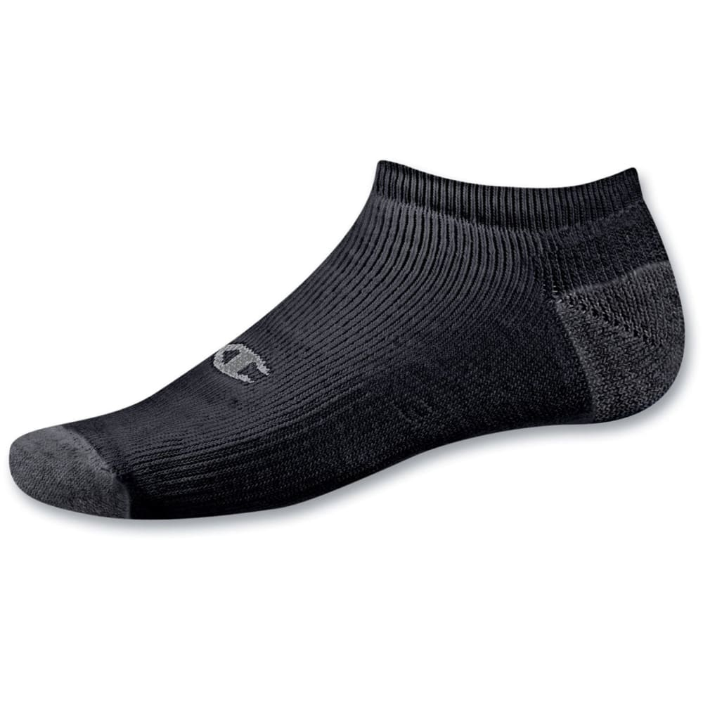 CHAMPION Men's Double Dry Performance No-Show Socks, 6-Pack - BLACK