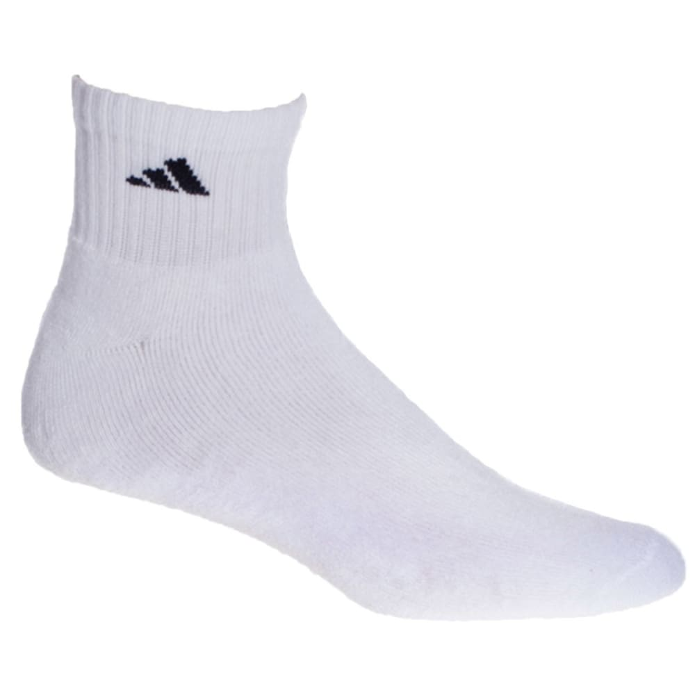 ADIDAS Men's Athletic Quarter Socks, 6-Pack - WHITE