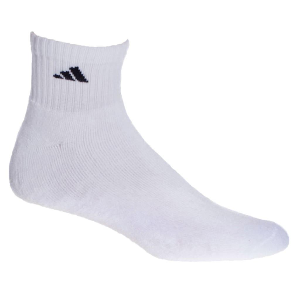 ADIDAS Men's Athletic Quarter Socks, 6-Pack - WHITE