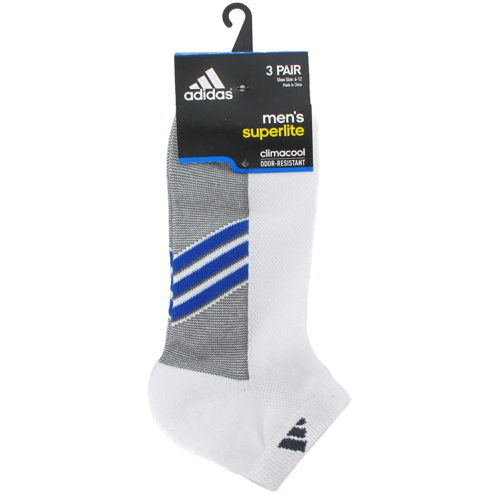 ADIDAS Men's Climacool Superlite Low Cut Socks, 3-Pack - WHITE 5135940