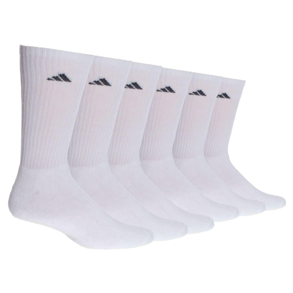 ADIDAS Men's Athletic Crew Socks, 6-Pack - WHITE
