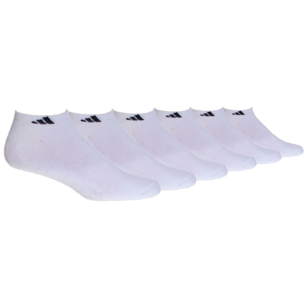 ADIDAS Men's Athletic Low Cut Socks, 6-Pack - WHITE