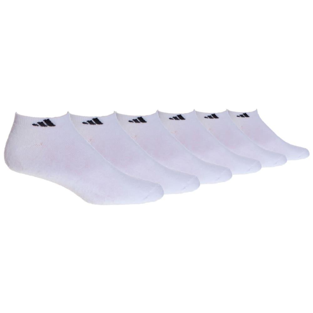 ADIDAS Men's Athletic Low Cut Socks, 6-Pack - WHITE
