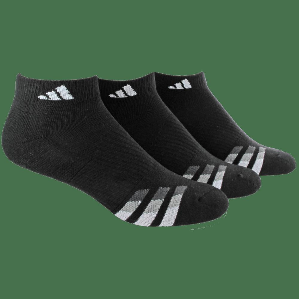 ADIDAS Men's Cushion Low Cut Socks - BLACK