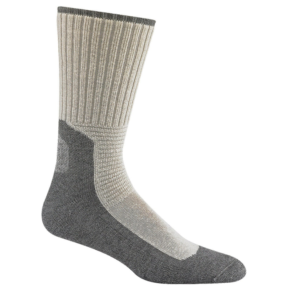 WIGWAM Men's At Work Durasole Pro Socks, 2-Pack - WHITE/GREY 902