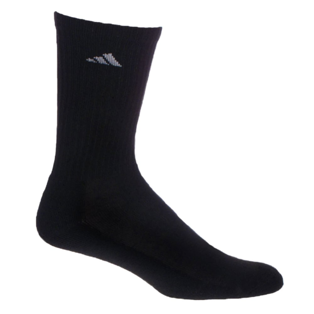 ADIDAS Men's Athletic Crew Socks, 6-Pack - BLACK