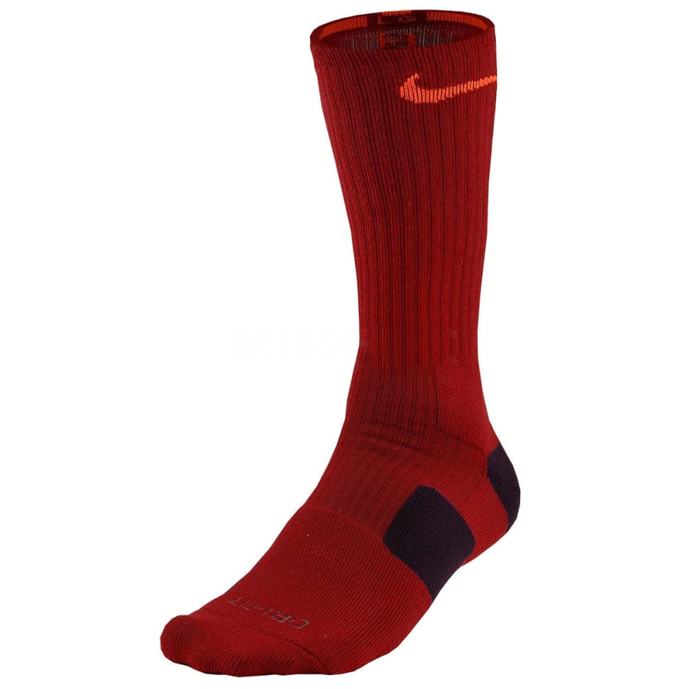 NIKE Boys' Elite Basketball Crew Socks - BRIGHT CRIMSON